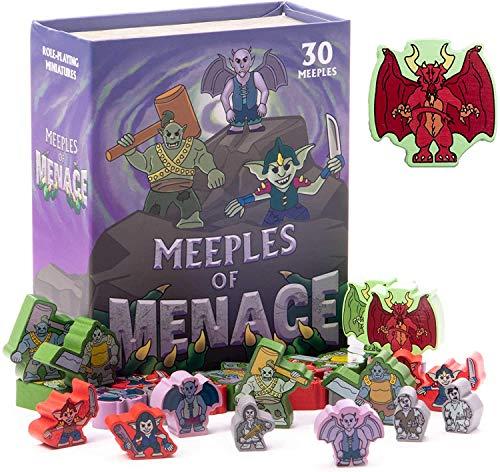 Meeples of Menace - Juego de 30 personajes de Meeple surtido