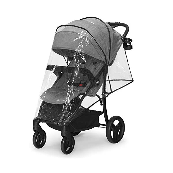 Kinderkraft Lightweight Stroller Cruiser, Baby Pushchair, Foldable, Lying Position, All Wheels Suspension, Big Ajustable Hood, with Accessories, Footmuff, from Birth to 3.5 Years, 0-15 kg, Gray kk KinderKraft STOP&GO BRAKE - Which allows you to quickly lock/unlock the wheels in any type of shoes EASY FOLDING - The stroller can be easily folded or unfolded with just a single move TRAY-SHAPED SEAT HANDLE - Provides perfect space for both playing and feeding. It can be easily detached and washed under running water 7