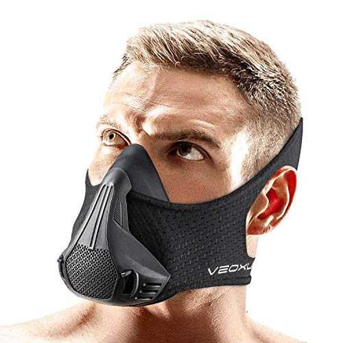 Training Device Mask 2430 Breathing Resistance Levels  Sport Workout Running Biking Fitness Jogging Cardio Exercise for Men Women Imitate Workout at High Altitudes Black 2020