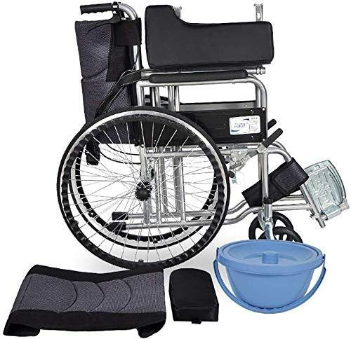 KXA Light Transport Folding Wheelchair Portable Travel Chair Aluminum Alloy Puncture Collision Carrying Wheelchair