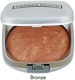 Ageless Derma Baked Mineral Blush Makeup with Botanical Extracts (Bronze Swirl) Made in USA