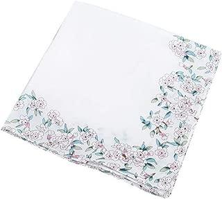 Ladies Fazzoletti Fazzoletti Stampa Floreale Bianco Cotone Poliestere 8 Pack