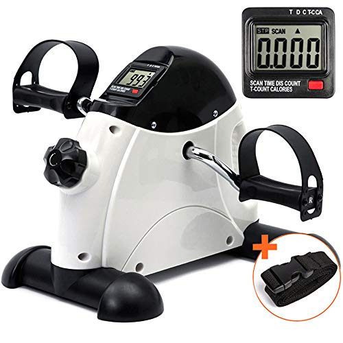 DECELI Under Desk Bike Pedal Exerciser - Portable...