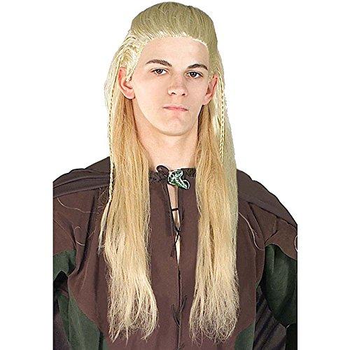 Generique - Perruque Legolas Le Hobbit Adulte,Yellow,