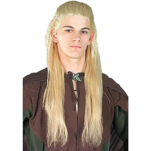 Generique - Perruque Legolas Le Hobbit Adulte,Yellow,