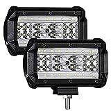 LTPAG 2pcs Focos LED Tractor, 5' 168W Faros Trabajo LED 12V-24V Luz de Niebla para Coche,SUV, UTV, ATV, Off-Road,Camión,Moto,Barco, IP68 Impermeable - Garantía de 2 años