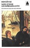 Note d'hiver sur impression d'été - Actes Sud - 09/01/2001