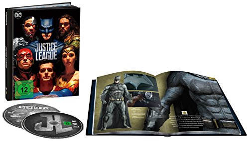 Justice League als Digibook (Limited Edition) (4K Ultra HD + 2D Blu-ray) [Blu-ray]