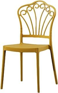 DWJ Sillas De Comedor Estilo Retro Silla Escandinava con Espalda Alta, Elegante Tulipán Comedor Multipropósito Cocina Oficina Silla Nórdica (Color : Yellow)