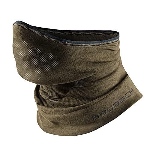 BRUBECK X-Pro Halbe Sturmhaube | Herren | Damen | Klimaregulierend | Gesichtsmaske | Sturmmaske | Funktionskleidung | Atmungsaktiv | KM10430, Gr.:S - M Khaki