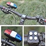 pushfocourag Bici Bicicleta Bicicleta Policía Luz LED Fuerte Sirena Sonido Trompeta Ciclismo Bocina Timbre Herramienta