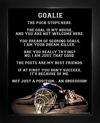 "Framed Ice Hockey Goalie Helmet 8"" x 10"" Sport Poster Print"