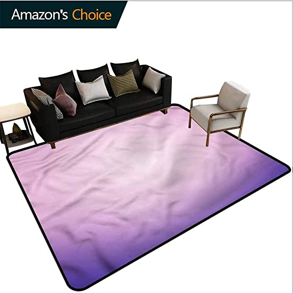 TableCoversHome Lavender Novelty Girls Bedroom Rug Pink And Purple Ombre Pattern Printing Rugs Fashionable High Class Living Bedroom Rugs 6 X 9