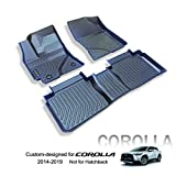 KELCSEECS Custom Fit Car Floor Mat for Toyota Corolla 2014-2019 Not Hatchback All Weather Protection Front & Rear 2 Row Full Liner