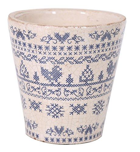 Home&Decorations TAFW_ADS1139_D Cache-Pot, weiß, Ø15cm H15,5cm