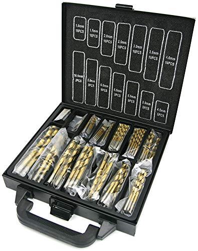 NORTOOLS 99 piezas HSS Juego de brocas recubiertas de titanio DIN338