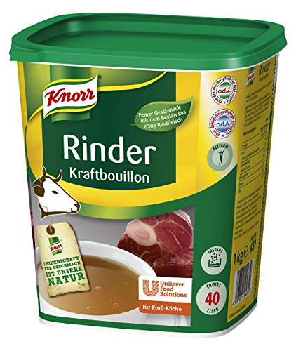 Knorr Rinder Kraftbouillon (vielseitig anwendbare Rinderbrühe, würziger Geschmack) 1er Pack (1 x 1kg)