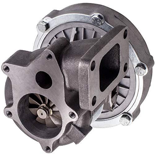 no-branded Turbo Turbocompresor for T3 T4 T04E A/R 0,50 Turbine A/R 0,57 Aceite refrigerado por F-O-R-D D-O-D-G-E 1.6L-2.5L 4 Perno T3 5 Pernos de la Brida Turbocompresores XXYHYQHJD