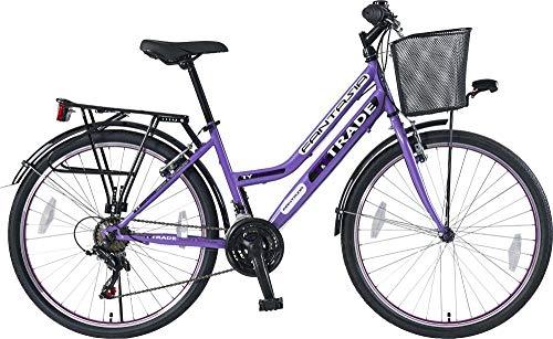 T 26 Zoll Kinder Mädchen Damen City Fahrrad Damenfahrrad Cityfahrrad Citybike Mädchenfahrrad Bike Rad 21 Gang Fantasia LILA TYT19-049