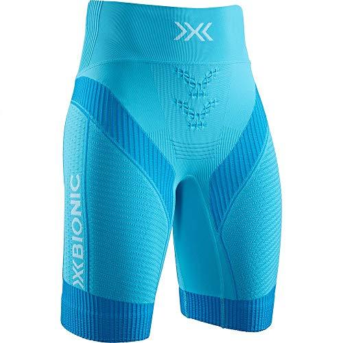 X-Bionic 4.0 Run Shorts Women, Short Donna, Effektor Tuqoise/Arctic White, XS