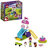 LEGO 41396 Friends Puppy Playground Playset with Mia, 2 Dog Figures, Slide and Merry Go Round for Pr