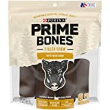 Purina Prime Bones Made in USA Facilities Natural Medium Dog Treats, Filled Chew with Wild Boar - 22.6 oz. Pouch