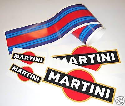 MARTINI LE MANS stil AUTO LAMINIERT aufkleber set Aufkleber porsche tvr