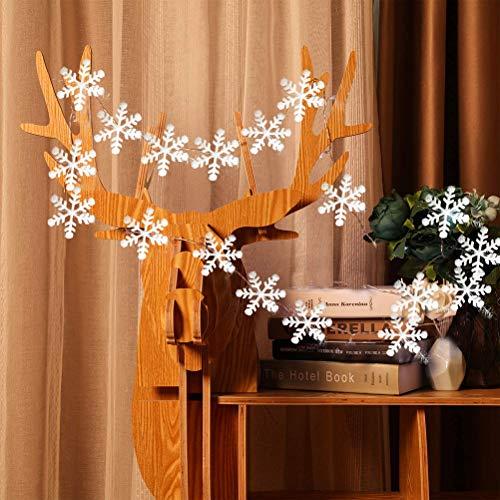 Weihnachten Schneeflocken deko Aufhängen Weihnachtsbaum Schnee Girlande Weihnachtsbaumschmuck Weihnachtsdeko Fensterdeko