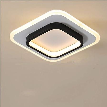Osairous Plafonniers LED, Plafonniers carrés 22W, Lampe de Plafond 3500K pour Salle de Bain, Salon, Chambre, Cuisine, Couloir (Blanc Chaud)