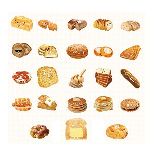 46PCS Kawaii Breakfast Bread Sticker Cute Food Bread Sticker for Scrapbooking journaling Planner Diary Albums Stationery Decoration StickerChildrenGift