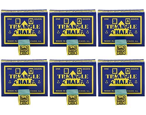 24 pcs Green TRIANGLE Snooker & Pool Chalk - Worlds Most Popular Chalk! by Tweeten