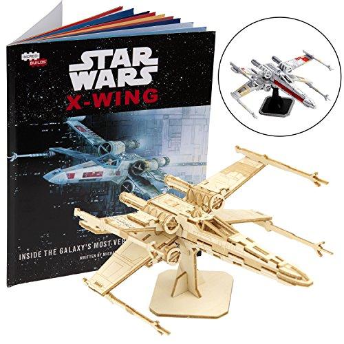 Star Wars X-Wing 3D Wood Puzzle &Model Figure Kit (73 Pcs) - Build & Paint Your Own 3-D Movie Toy...