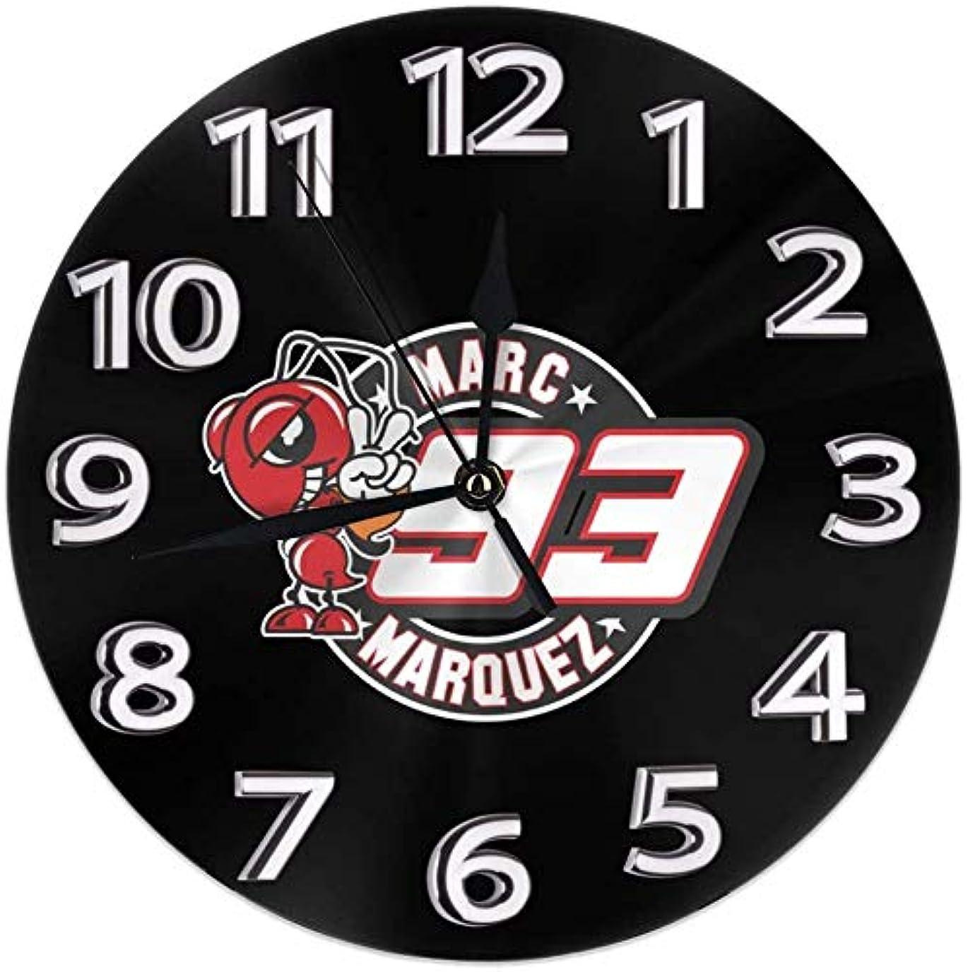 辞任パニック注文マルク?マルケス MotoGP バイク王 置き時計 シンプル デザイン 静音 非カチカチ音 円型 直径25 CM 家の装飾 現代の壁掛け時計