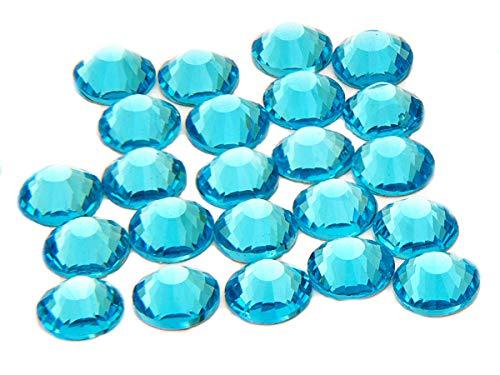 EIMASS® ELEMENTS Hotfix Glaskristalle mit flacher Rückseite, 1440 Stück, aquamarin, 2 mm