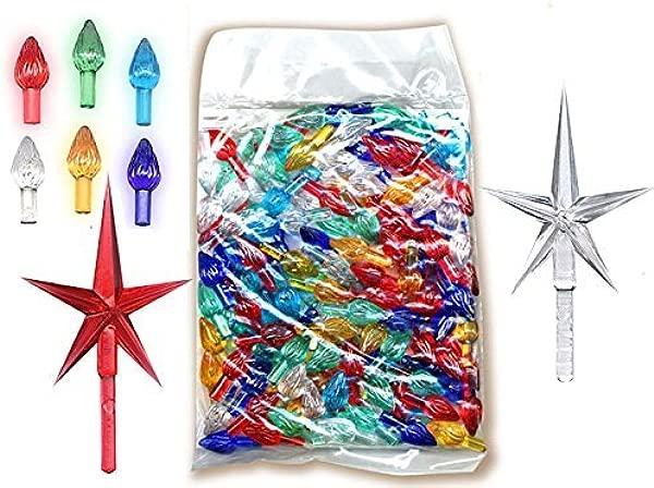 National Artcraft Ornaments For Ceramic Christmas Trees 144 Pcs Plus 2 Stars