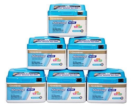 GoodSense Advantage Non-GMO Milk-Based Powder Infant Formula with Iron, 6 Count
