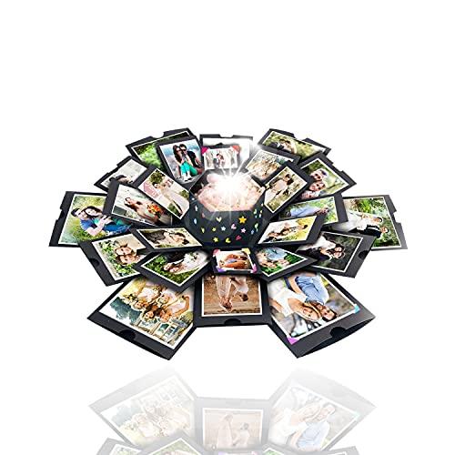 Explosion Box Photo Album Surprise Cake Explosion Box, Wedding Anniversary Hexagon Box, Exploding Box Cards, Picture Explosion Box Creative Scrapbooking DIY Picture Box for Lover, Birthday