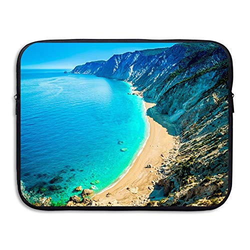 15 Inch Laptop Sleeve Water-Resistant Laptop Bags Island Mountain Beach Briefcase Sleeve Case Bags