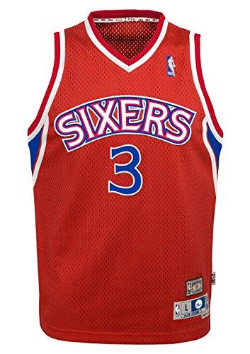 Philadelphia 76ers Allen Iverson Youth Jersey Soul Swingman Red
