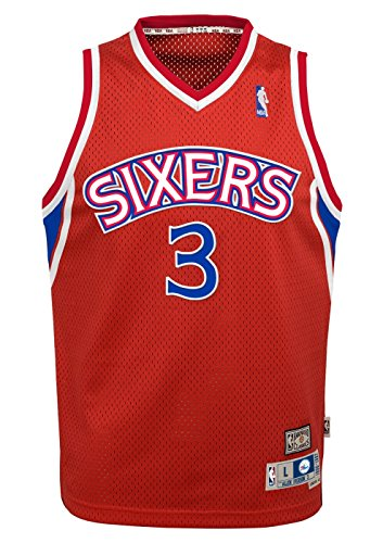 Philadelphia 76ers Allen Iverson Youth Jersey Soul Swingman Red