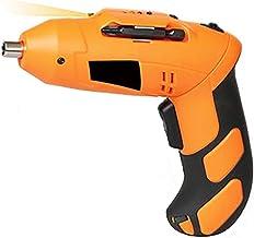 EastMetal Destornillador Eléctrico, Atornillador EléctricoInalámbrico, 4.8V Taladro Atornillador, con Mango Ajustable, 3N.m, 13 Accesorios, Mandril Magnético, LED luz, para Taladrar y Apretar