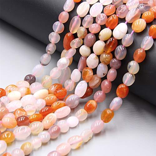 KUQIQI Las Cuentas de Piedra Natural 6-8 mm Cardonyx Irregular, Pueden ser Perlas Sueltas, utilizadas para joyería Que Hacen Pulseras de Bricolaje, Collares, Suministros