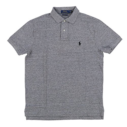 Polo Ralph Lauren Mens Custom Slim Fit Polo Shirt (M, Canterbury Heather)