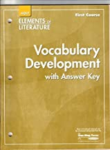 Holt Elements of Literature, Vocabulary Development with Answer Key, First Course Grade 7