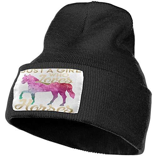 Amo los Caballos Gorros Tejidos de Invierno Gorro de Punto Suave Gorro cálido para Hombres y Mujeres