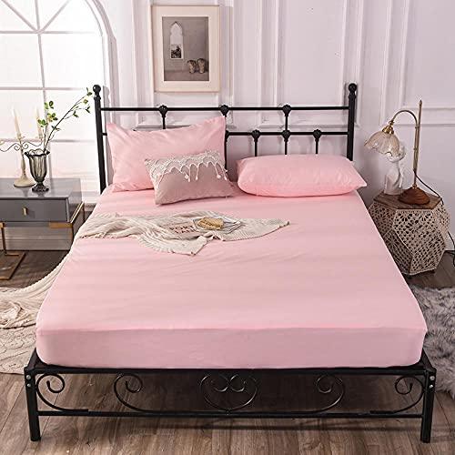 CYYyang Funda colchón Microfibra, elástica y Ajustable, Sábana de Cama de Hotel de Color Puro Simple-Jade_90cm × 200cm