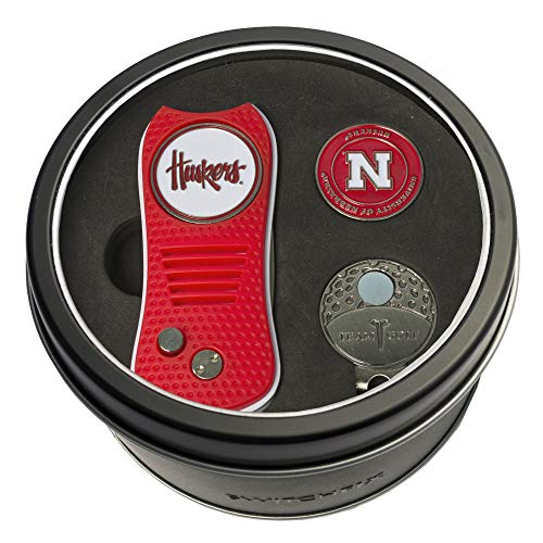 Fantastic Prices! Team Golf NCAA Nebraska Cornhuskers Gift Set Switchblade Divot Tool, Cap Clip, & 2...