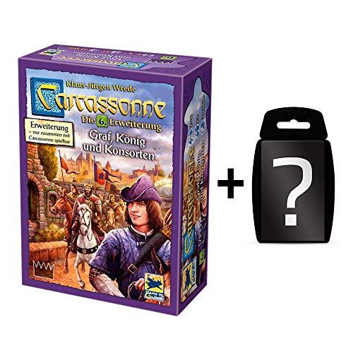 Carcassonne - GRAF, König und Konsorten - Die 6. Erweiterung | DEUTSCH | Set inkl. Kartenspiel