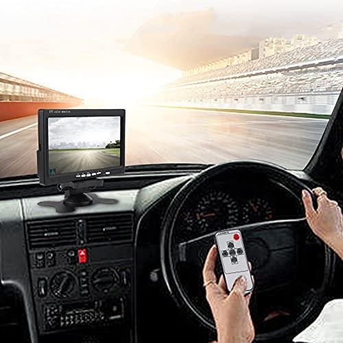 Caméra de recul de voiture kit, écran TFT de 7 pouces, connecteur à 4 broches, caméra CCD d'angle, lumière LED infrarouge de vision nocturne, pour la plupart des voitures camions caravanes bus