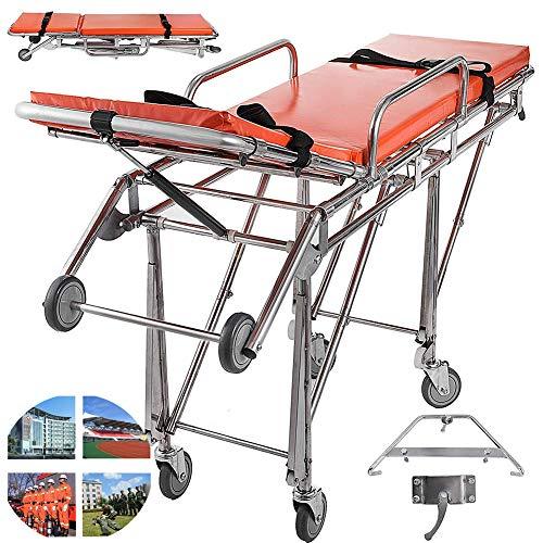 ZZYYZZ Camilla de Ambulancia de Emergencia Ligera Aleación Camilla de Hospital médico de Emergencia…
